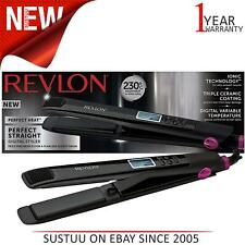 Revlon ST2165 Perfect Straightener Digital Hair Styler│Triple Ceramic Coat.│Blac