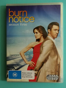 Burn Notice Season Three  DVD 4 disc set VGC RatedM R4