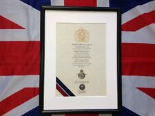 Oath Of Allegiance RAF  (framed with printed Cap Badge)