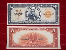 NICE LOOKING CRISP UNC. 1922 $5.00 GOLD CERTIFICATE COPY