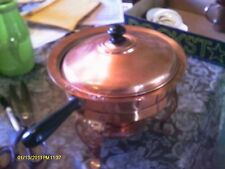 Vintage copper chaffing dish food warmer complete - from JAPAN