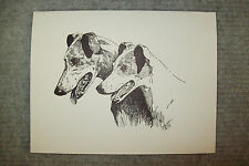 Greyhound Pen & Ink Stationary Cards, Note Cards, Greeting Cards. 10 ct.
