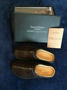 Samuel Windsor men's slippers UK 8 Classic Collection real leather premium item
