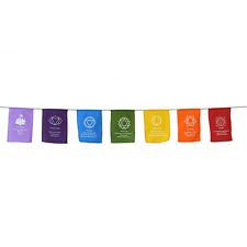 Chakra Symbol Colourful Mantra Prayer Flags Bunting Flags For Home Party Tent