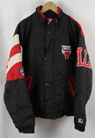 Vintage Chicago Bulls 1/2 Zip Starter Jacket Sz L