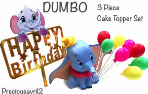 Dumbo the elephant Cake Topper 3 piece set figurine set baby children birthday