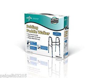 Medline Folding Paddle Walker MDS86410KDBW Blue/Black