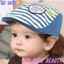 Boy Kids Children Stripe car Beret Pageboy baseball Casquette Cotton Hat Cap 1-3