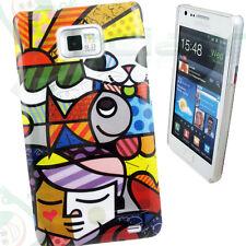 Pellicola+Custodia cover HAPPY FISH per Samsung Galaxy S2 i9100 NUOVA