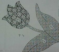 Vintage Quilt  Pattern Mail Order Tulip Applique Block Design Quilter Sewing
