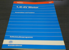 VW Polo 6N 1,4l  4V Motor  Selbststudienprogramm  SSP 187  Stand  03/1996