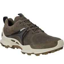 Ecco Mens BioM C-Trail Leather Gore-Tex Walking Hiking Trainers Shoes Dark Clay