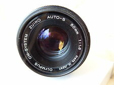 Olympus OM 50mm f1.8 Zuiko Auto S M/I Japan lens, fits OM camera mount optics A1