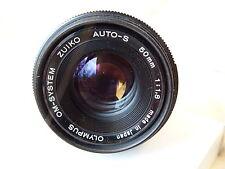 Olympus OM 50mm f1.8 Zuiko Auto S M/I Japan lens, fits OM camera mount optics A1
