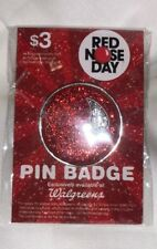 1 x Comic Relief RED NOSE DAY 2018 Sparkle PIN Badge Charity NEW Sealed Clown