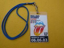 rolling stones Licks world tour 2002/03 V.I.P Munich 06.06.03 PASS  Ç