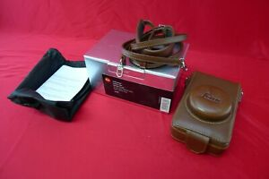 Leica D-Lux 4 Brown Leather Case with Shoulder/Neck Strap Hand Strap & Box 18689