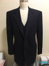 d59225d66 Vintage GUCCI 42-S NAVY BLUE 2-BUTTON WOOL PINSTRIPE SPORT COAT w/