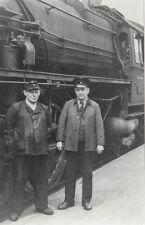 Photo / REPRO ca.13x18cm CHEMINOT AVANT Locomotive à vapeur (agf903)