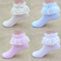 Cute Frilly Princess Lace Socks Girls Baby Kids Ankle Casual Cotton School Sock