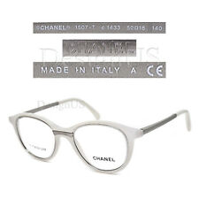 CHANEL 1507-T c.1433 White Titanium 50/18/140 Eyeglasses Rx Made in Italy - New