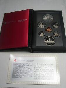 1987 CANADA Double Dollar Proof Set (Commem Dollar Silver) w/ Box & COA.  #15