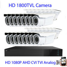 16CH All-in-1 HDMI DVR 1800TVL 9-22mm Long Distance Lens Security Camera System