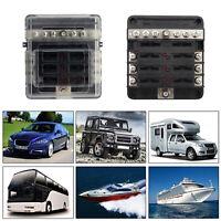 6 Way Blade Fuse Holder Box Block Case For Car Boat Marine Bus Van Waterproof UA