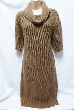 Acrylic Blend Cowl Neck Jumper Dresses