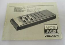 Vintage Rare Philips Video 2000 Remote Control - Users Manual Booklet