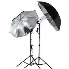 83cm Studio Flash Light Grained Black Silver Umbrella Reflective Reflector LO