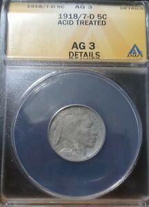 1918/17 D Buffalo Nickel Details