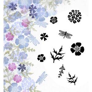 Card-io Majestix Wild Flowers Clear Peg Stamps CDMAWI-05