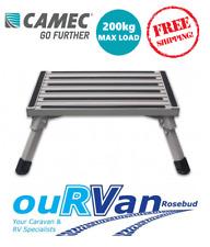 CAMEC ALUMINIUM PORTABLE STEP FOLDING FOLD UP CARAVAN RV CAMPING NON SLIP 041599