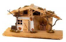 Schönes Holzhaus 45,5 cm Krippe Haus Landhaus Weihnachtsdekoration Modellhaus