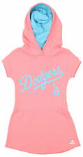 Majestic MLB Girls Kids Los Angeles Dodgers Hooded Celebrate Dress, Coral