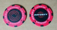 *BRAND NEW* Odyssey golf ball markers - chip style -two (02) in each pack