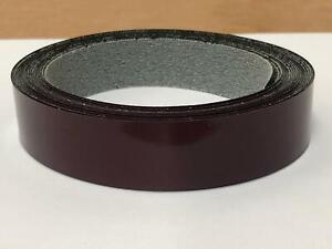 Aubergine Gloss Edging Tape, 5m x 22mm, Pre-Glued Iron On