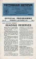 Reading Football Reserve Fixture Programmes (1970s)