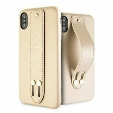 Guess Saffiano Strap iPhone XS Max SCHUTZHÜLLE Back Case Cover Gold