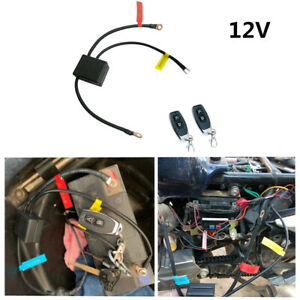 12V Master Battery Disconnect Switch Isolator w/Wireless 2 Remote For Motorcycle