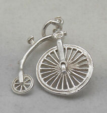 MOVING STERLING SILVER PENNY FARTHING BICYCLE CHARM