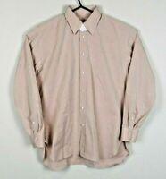 Luigi Borrelli NWOT Mens Dress Shirt 16.5 / 42 Mauve 100% Cotton Made in Italy