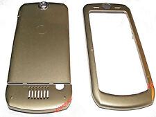 Cover Gehäuse Schale Oberschale Akkudeckel Farbe Gold für Motorola L6 (SLVR L6)