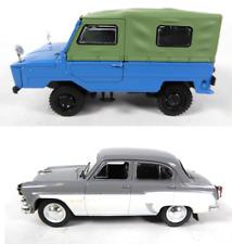 Lot of 2 miniature cars ussr moskvitch 407 1/43 luaz + ixo diecast car lr16