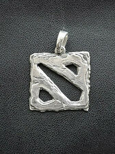 Pendant inspired by Dota 2 game made from white bronze