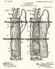 Old Antique Vintage Caddy Golf Bag Patent Illustration Wall Art Photo Picture