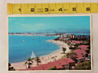 Vintage Postcard Mission Bay San Diego California CA Beach Boat ~ Ships FREE