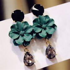 Fashion Boho Statement Flowers Crystal Ear Stud Earrings Women Charm Jewelry NEW