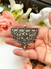 Antique Silver Tone Ethnic Vintage Look Metal Pendant, Indian Jewellery
